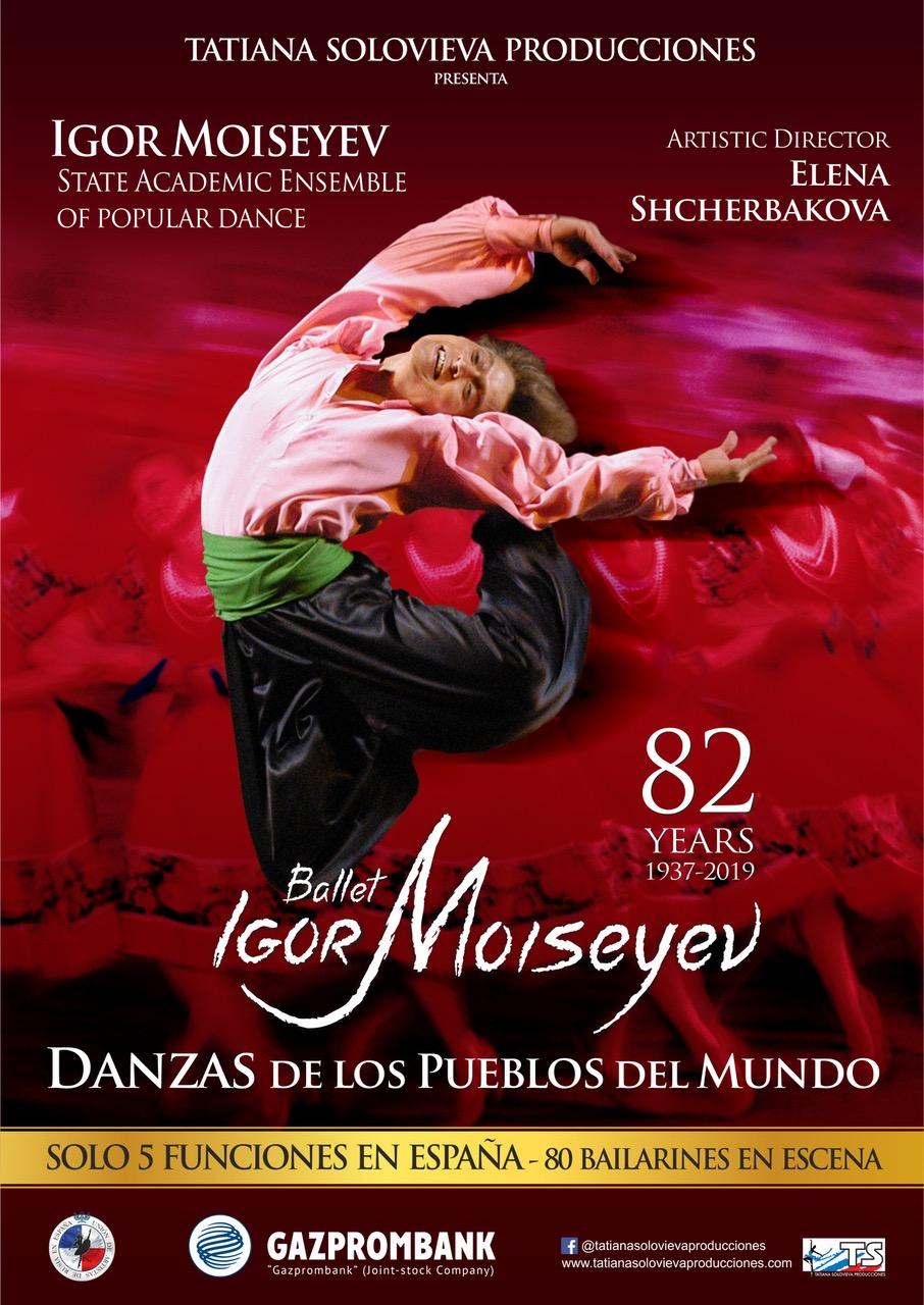 Cartel Danzas de los pueblos del mundo - Igor Moiseyev