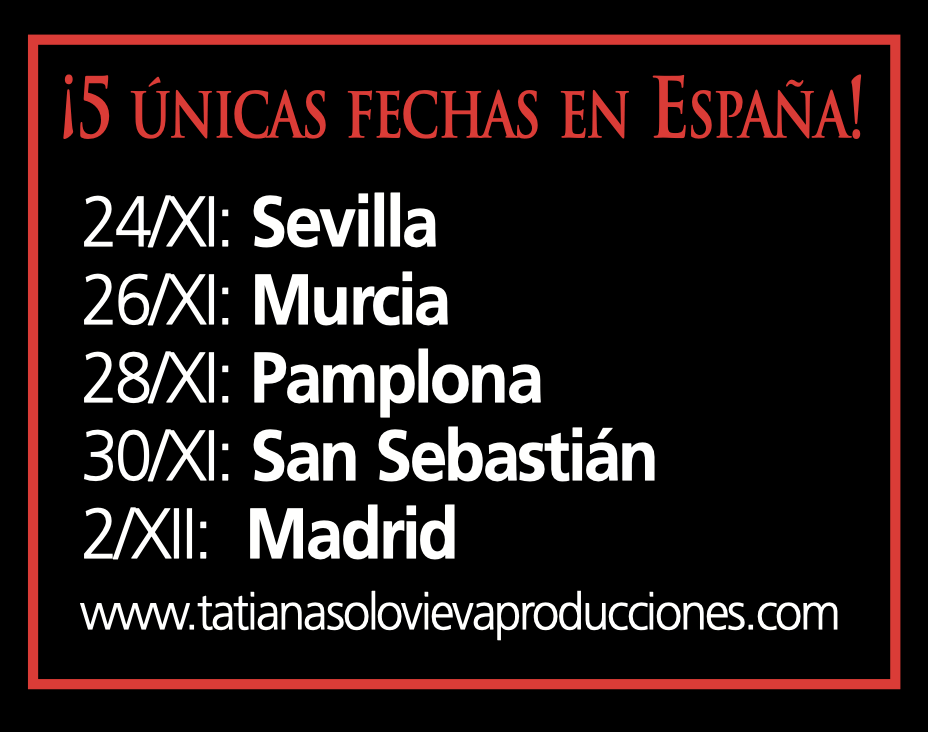 Gira 2019 España Igor Madrid, Sevilla, Murcia, San Sebastian